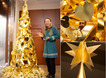 Jewelry store in Tokyo creates gold Christmas Tree